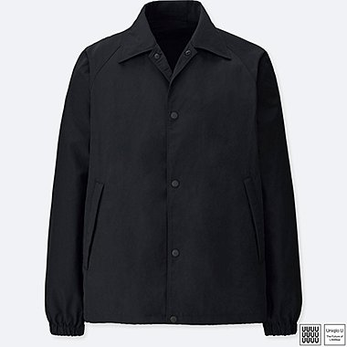 MEN U POCKETABLE COACH JACKET, BLACK, medium