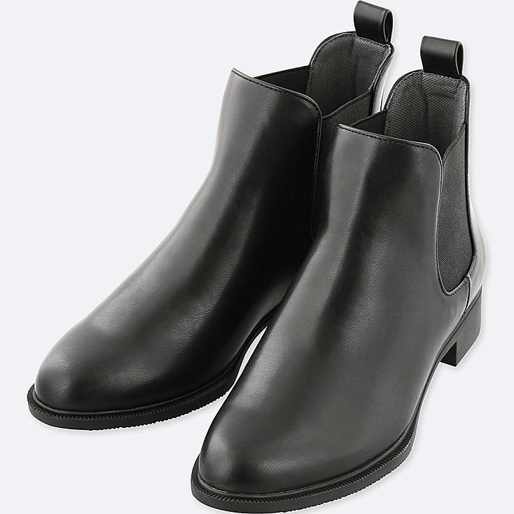 WOMEN SIDE GORE SHORT BOOTS, BLACK, large