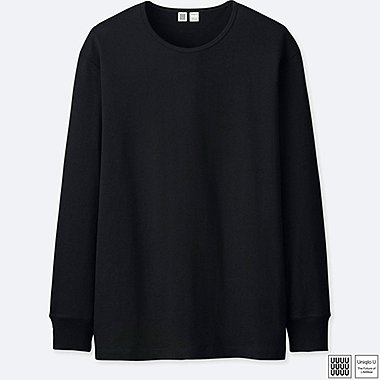 MEN UNIQLO U SUPIMA COTTON CREW NECK LONG SLEEVE T-SHIRT