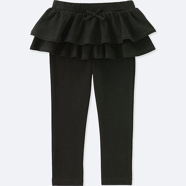 TODDLER FRILL PANTS, BLACK, large