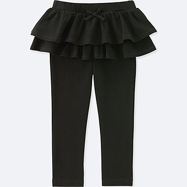 TODDLER FRILL PANTS, BLACK, medium