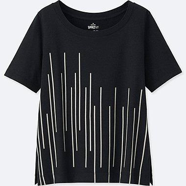WOMEN SPRZ NY GRAPHIC T-SHIRT (FRANCOIS MORELLET), BLACK, medium