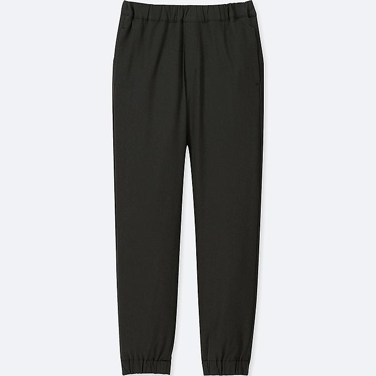 KIDS WARM-LINED JOGGER PANTS, BLACK, large