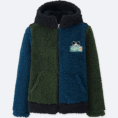 KIDS Disney Fluffy Yarn Fleece Parka