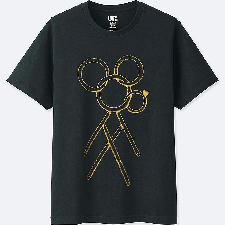 MICKEY ART SHORT-SLEEVE GRAPHIC T-SHIRT (GEOFF MCFETRIDGE), BLACK, large