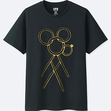 MICKEY ART SHORT-SLEEVE GRAPHIC T-SHIRT (GEOFF MCFETRIDGE), BLACK, medium