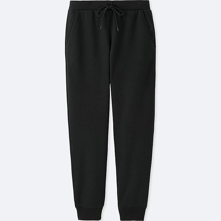 WOMEN WINDPROOF FLEECE PANTS, BLACK, large