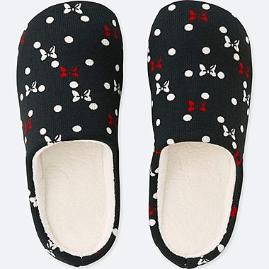 DISNEY HOLIDAY COLLECTION SLIPPERS, BLACK, medium
