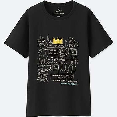 WOMEN SPRZ NY GRAPHIC T-SHIRT (JEAN-MICHEL BASQUIAT), BLACK, medium