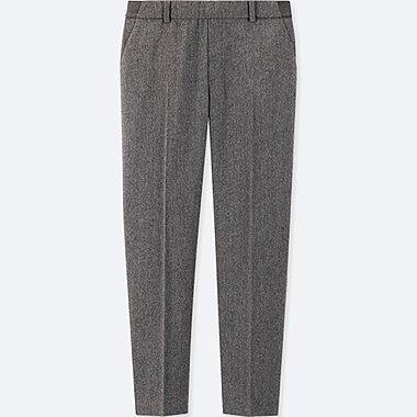WOMEN EZY TWEED ANKLE-LENGTH PANTS (ONLINE EXCLUSIVE), BLACK, medium