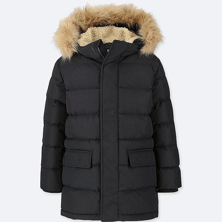 BOYS WARM PADDED COAT, BLACK, large