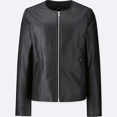 WOMEN COLLARLESS JACKET
