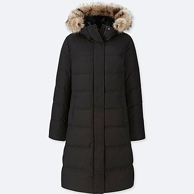 WOMEN ULTRA WARM DOWN LONG HOODED COAT