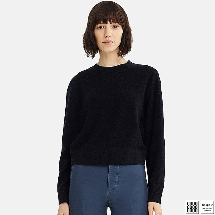 Women Uniqlo U Premium Lambswool Crew Neck Jumper Uniqlo Uk
