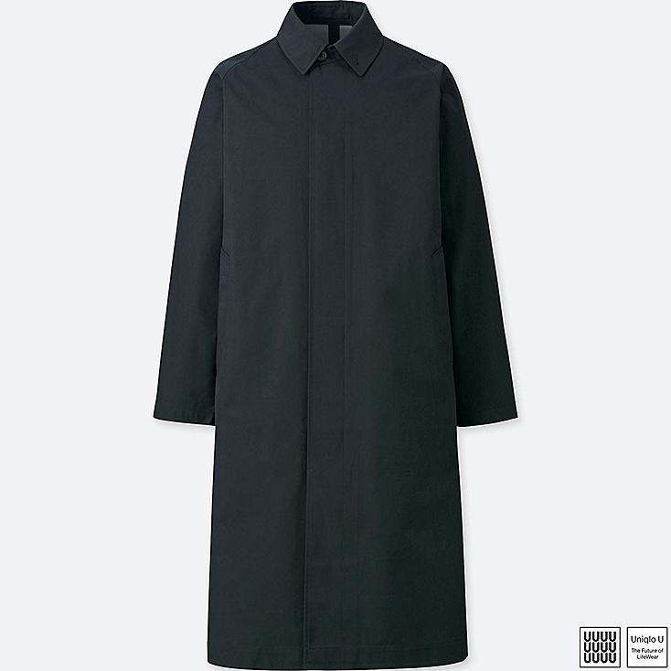 MEN U BLOCKTECH CONVERTIBLE COLLAR COAT, BLACK, large