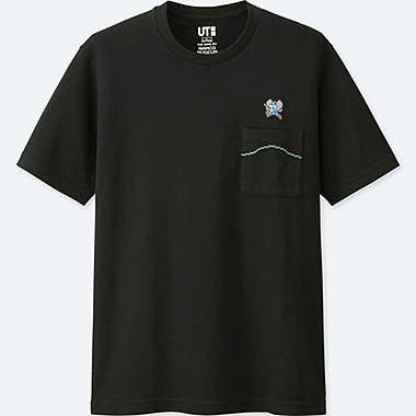 THE GAME BY NAMCO MUSEUM SHORT-SLEEVE GRAPHIC T-SHIRT (MAPPY), BLACK, medium