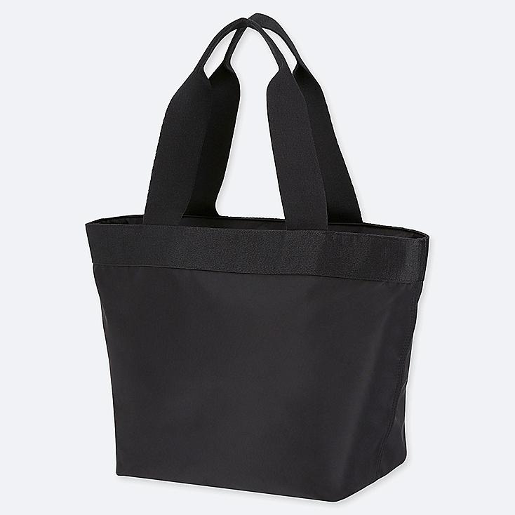 NYLON TOTE BAG, BLACK, large