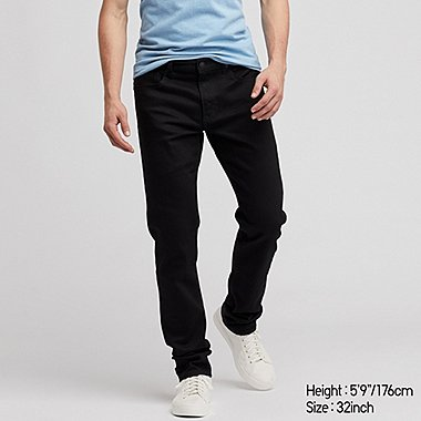 MEN SLIM-FIT JEANS, BLACK, medium