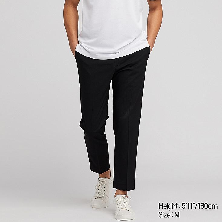 MEN EZY ANKLE-LENGTH PANTS, BLACK, large