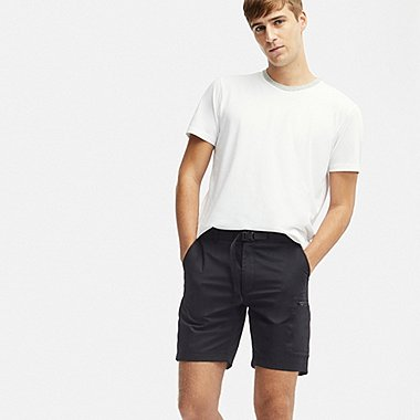MEN UTILITY SHORTS, BLACK, medium