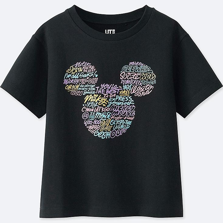 KIDS LOVE & MICKEY MOUSE COLLECTION GRAPHIC T-SHIRT, BLACK, large