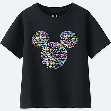 KIDS LOVE & MICKEY MOUSE COLLECTION GRAPHIC T-SHIRT, BLACK, medium