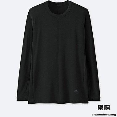 MEN HEATTECH EXTRA WARM LONG-SLEEVE T-SHIRT (ALEXANDER WANG), BLACK, medium