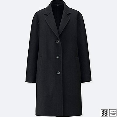 WOMEN UNIQLO U DOUBLE FACE WOOL OVERCOAT
