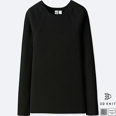 WOMEN UNIQLO U 3D KNIT EXTRA FINE MERINO CREW NECK JUMPER