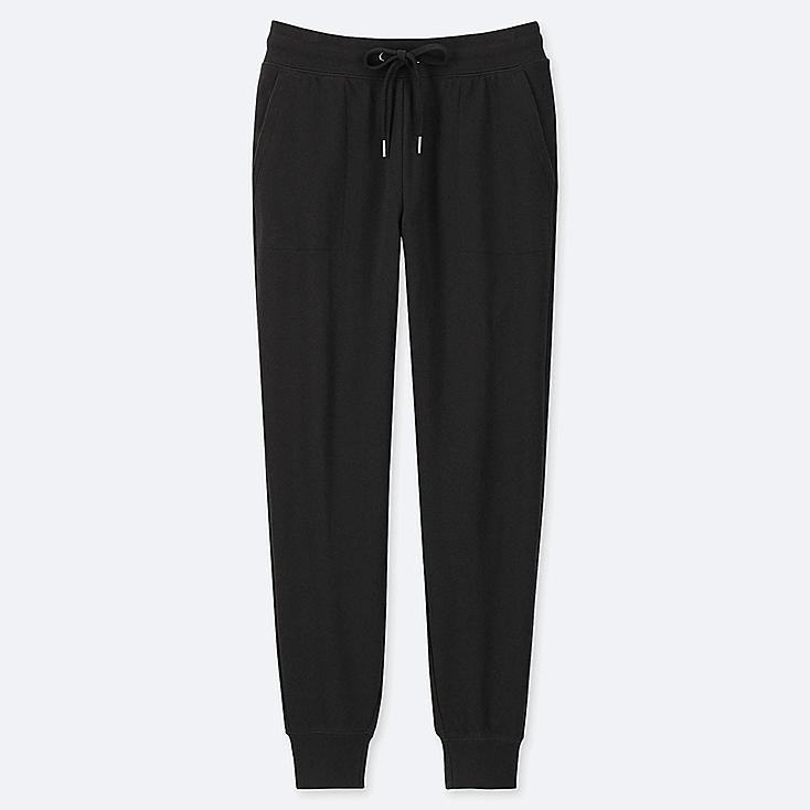 WOMEN SWEATPANTS, BLACK, large