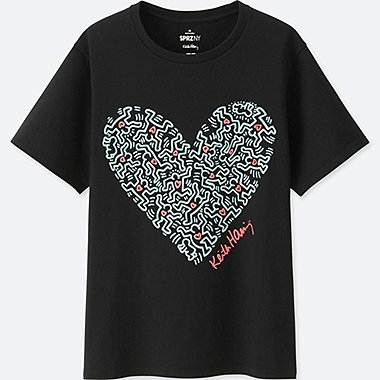WOMEN SPRZ NY GRAPHIC T-SHIRT (KEITH HARING), BLACK, medium