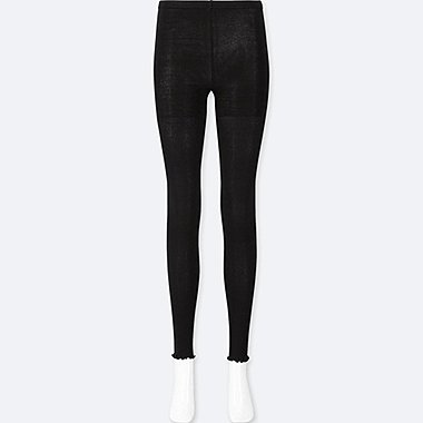 WOMEN RIBBED EXTENDED LENGTH LEGGINGS