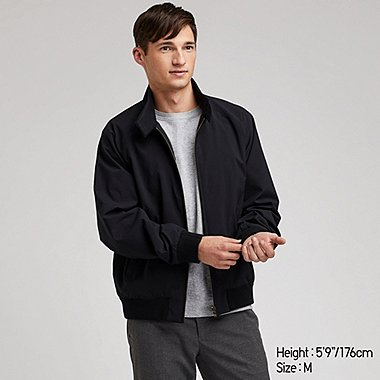 MEN HARRINGTON JACKET, BLACK, medium