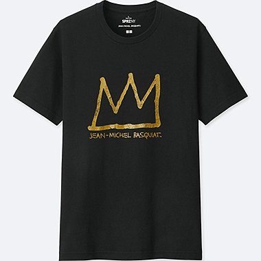 MEN SPRZ NY SHORT-SLEEVE GRAPHIC T-SHIRT (JEAN-MICHEL BASQUIAT), BLACK, medium