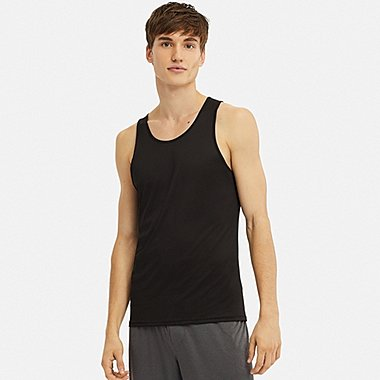 MEN AIRISM MESH SLEEVELESS VEST