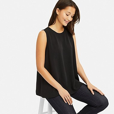 e9e722ea250 WOMEN DRAPE SLEEVELESS BLOUSE