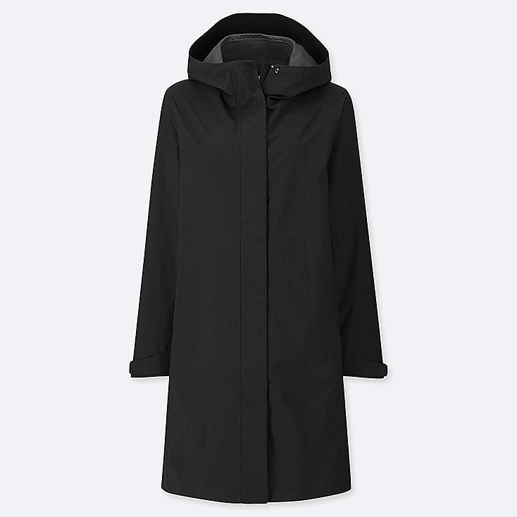 WOMEN BLOCKTECH COAT, BLACK, large
