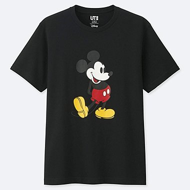 MICKEY STANDS UT (SHORT SLEEVE GRAPHIC T-SHIRT), BLACK, medium