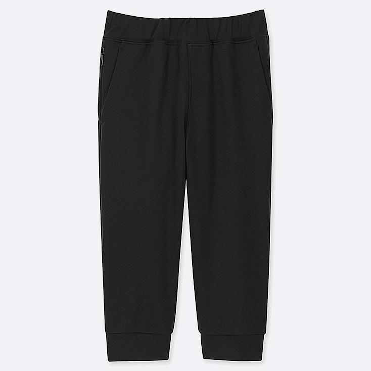 KIDS ULTRA STRETCH ACTIVE CROPPED PANTS, BLACK, large