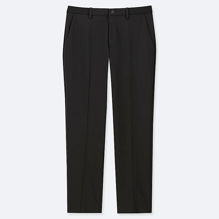 MEN EZY ANKLE-LENGTH PANTS (DRY-EX), BLACK, large