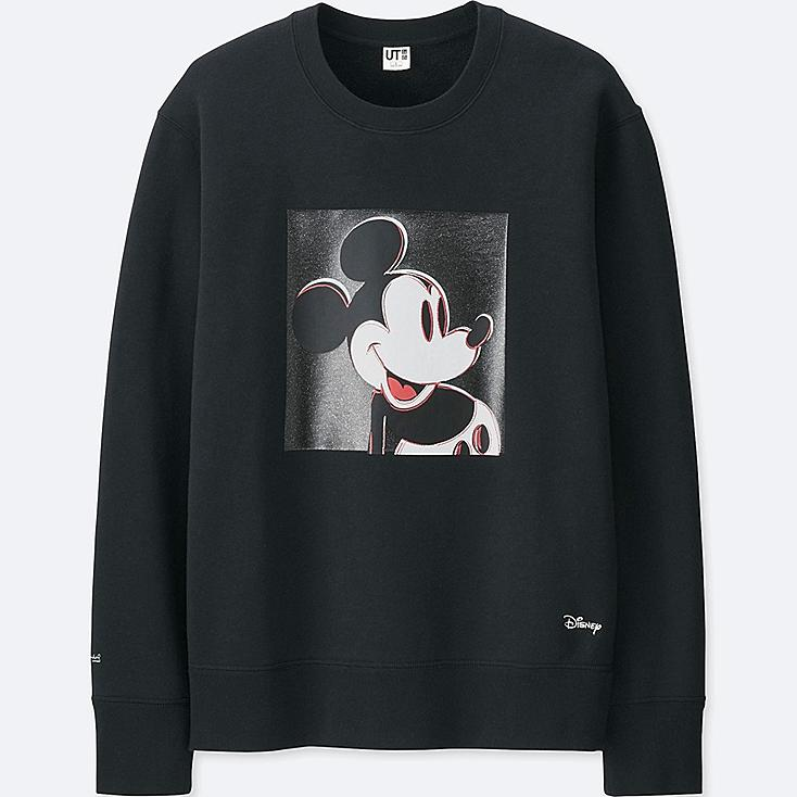 MICKEY ART SWEATSHIRT (ANDY WARHOL), BLACK, large