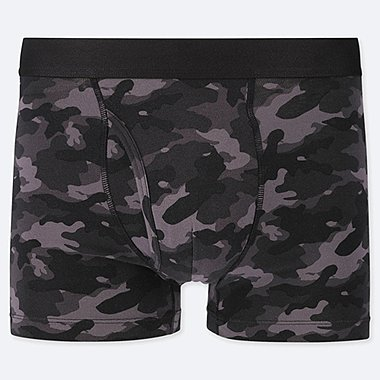 MEN SUPIMA COTTON CAMOUFLAGE PRINT BOXER SHORTS