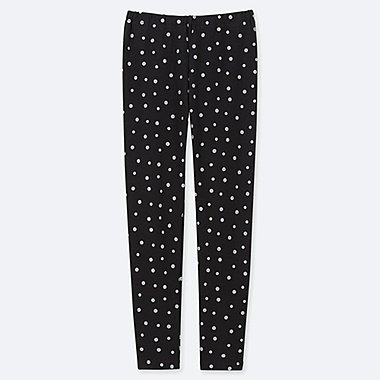 GIRLS DOT-PRINT LEGGINGS, BLACK, medium