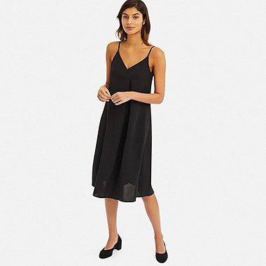 DAMEN DRAPE SLIP-DRESS