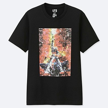 MOBILE SUIT GUNDAM 40TH ANNIVERSARY SHORT-SLEEVE GRAPHIC T-SHIRT, BLACK, medium
