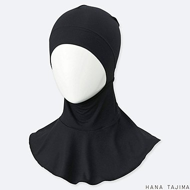 WOMEN AIRism INNER HIJAB (HANA TAJIMA), BLACK, medium