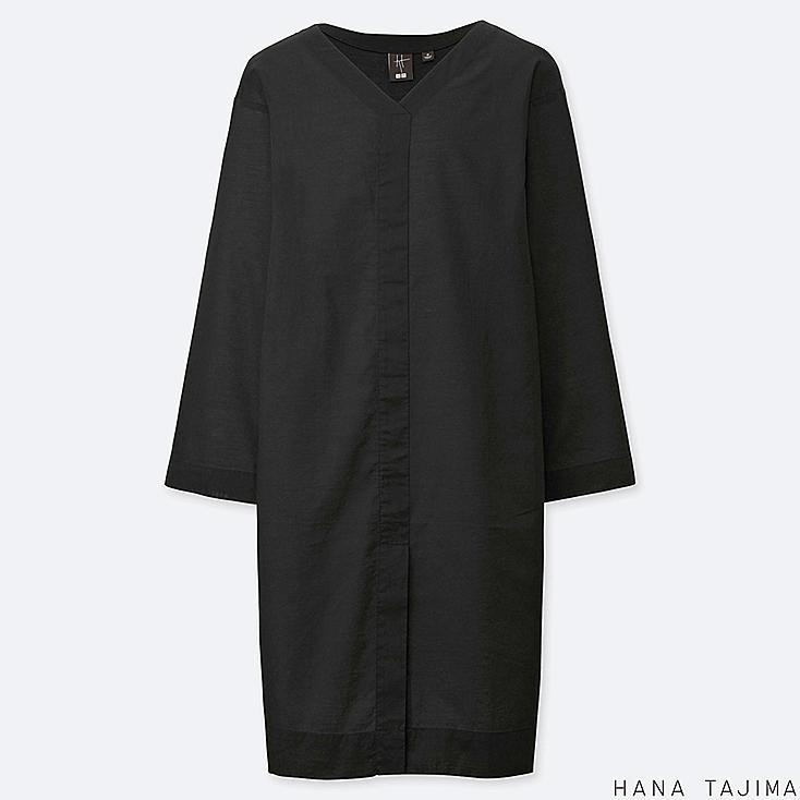women v-neck long-sleeve tunic