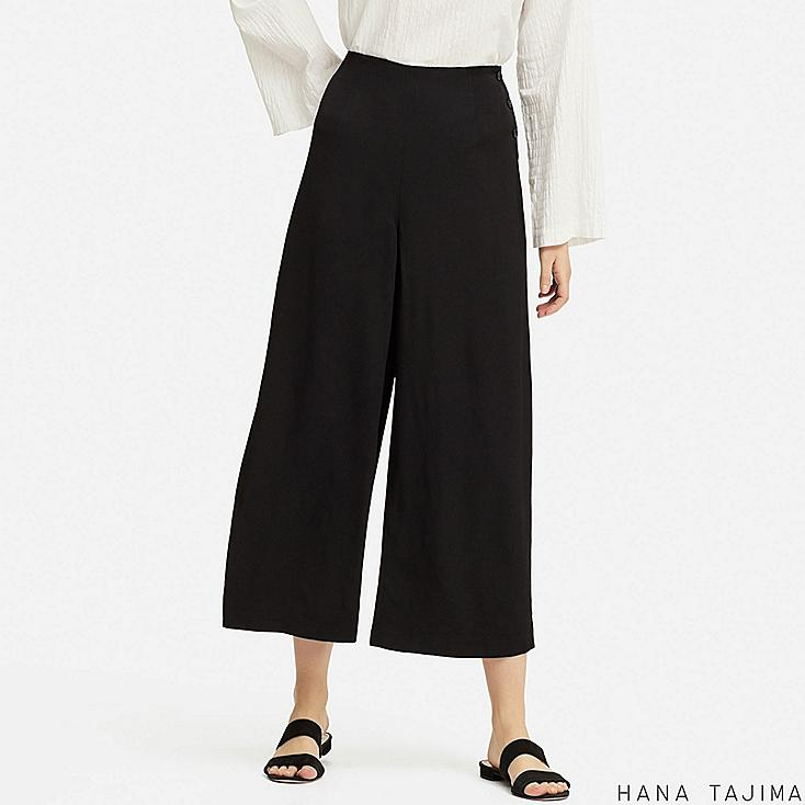 women rayon relaxed wide ankle pants