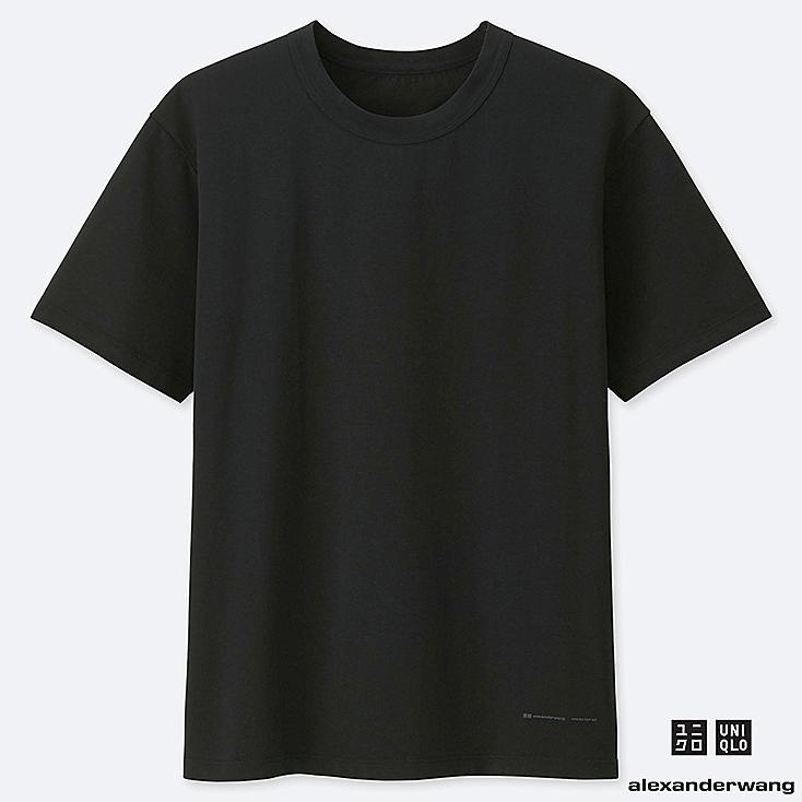 MEN AIRism SHORT-SLEEVE CREW NECK T-SHIRT (ALEXANDER WANG), BLACK, large