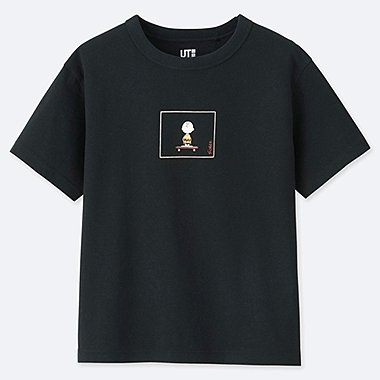 KIDS PEANUTS UT (SHORT-SLEEVE GRAPHIC T-SHIRT), BLACK, medium